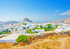 Chora of Amorgos Royalty Free Stock Photo