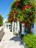 Chora the Capital of Amorgos Island Royalty Free Stock Photos