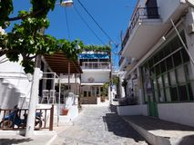 Chora capital of Skyros island, northern Aegean, Greece. Chora is the main village and the capital of the small island of Skyros, in northern Aegean sea, Greece royalty free stock photography