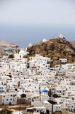 Chora capital  view of aegean sea Ios Cyclades Stock Photography
