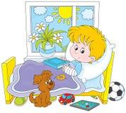 Chora chłopiec z przełamem Zdjęcie Royalty Free