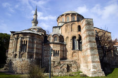 Chora church in Istanbul. Exterior view of Chora church or Kariye Camii in Istanbul Royalty Free Stock Photography