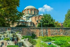 Chora Church, Istanbul. Chora Church detail with dome is the most beautiful Byzantine church after Hagia Sophia. It is situated in Edirnekapi neighborhood of Royalty Free Stock Image