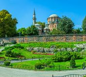 Chora Church, Istanbul. Chora Church is the most beautiful Byzantine church after Hagia Sophia. The church is situated in Edirnekapi neighborhood of Istanbul Stock Photos