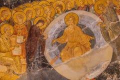 Chora Church Mural Detail Stock Photo