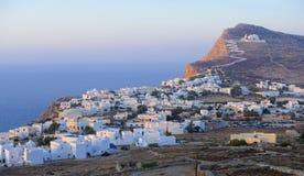 Chora-Dorf auf Folegandros lizenzfreies stockfoto