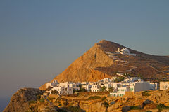 chora folegandros海岛城镇 免版税库存照片