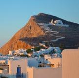 Chora-Folegandros immagini stock libere da diritti