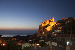 chora Greece samothraki Fotografia Royalty Free