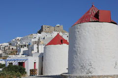 Chora on the island of Astypalea, Greece Royalty Free Stock Image