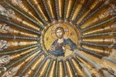 CHORA, Kariye Church or Museum ISTANBUL, TURKEY. CHORA, Kariye Church or Museum, interior of the building is covered with fine mosaics and frescoes, ISTANBUL royalty free stock photos