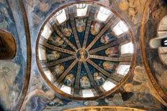 CHORA, Kariye kyrka eller museum, ISTANBUL, TURKIET arkivbilder