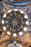 CHORA, Kariye kyrka eller museum, kupol av byggnaden royaltyfria bilder