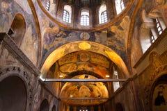 Chora kyrka i Istanbul Arkivbilder
