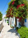 Chora la capitale de l'île d'Amorgos photos libres de droits