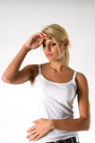 Chora młoda kobieta Zdjęcie Stock