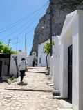 Chora capital of Skyros island, northern Aegean, Greece. Chora is the main village and the capital of the small island of Skyros, in northern Aegean sea, Greece royalty free stock image