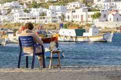 Chora, Mykonos, Greece Stock Image