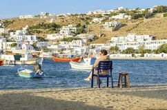Chora, Mykonos, Greece Stock Images