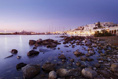 Chora, Naxos at Sunset Royalty Free Stock Photos