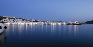 Chora by night, Mykonos, Greece Stock Photo