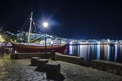 Chora by night, Mykonos, Greece Royalty Free Stock Images