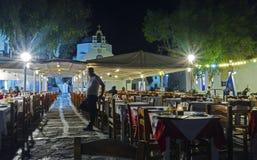 Chora by night, Mykonos, Greece Royalty Free Stock Photo