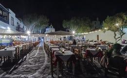 Chora by night, Mykonos, Greece Royalty Free Stock Photos