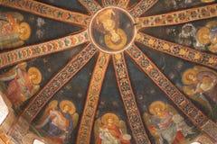 chora ortodoxa kyrkliga istanbul Arkivfoton
