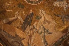 chora ortodoxa kyrkliga istanbul Arkivfoto