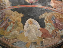 chora ortodoxa kyrkliga istanbul Royaltyfria Foton