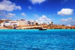 Chora on Pano Koufonisi island stock photo