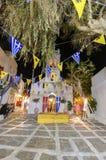 Chora a pasqua, Mykonos, Grecia Fotografia Stock Libera da Diritti