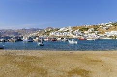 Chora port, Mykonos, Greece Stock Photo