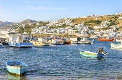 Chora port, Mykonos, Greece Stock Photography