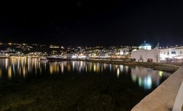 Chora port, Mykonos, Greece Royalty Free Stock Photos
