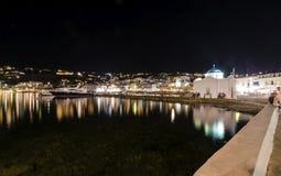 Chora port, Mykonos, Greece Royalty Free Stock Image