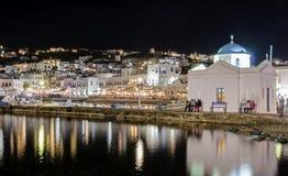 Chora port, Mykonos, Greece Royalty Free Stock Photo
