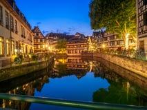 Chora rzeka w Małym Francja, Strasburg Obraz Royalty Free