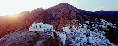 Chora Serifos panorama Royalty Free Stock Photos