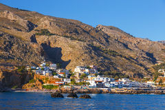 Chora Sfakion, south of Crete, Greece. Small town Chora Sfakion, south of Crete, Greece Stock Photos