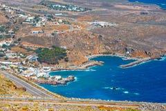 Chora Sfakion town on Crete Royalty Free Stock Photos