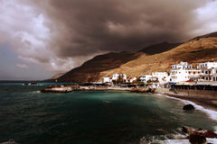 Chora Sfakion under a stormy sky Royalty Free Stock Photo