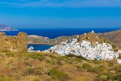 Chora town, Ios island, Cyclades, Aegean, Greece Stock Photo