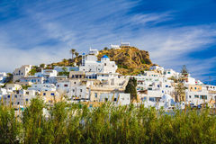 Chora town, Ios island, Cyclades, Aegean, Greece Stock Image