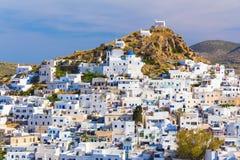 Chora town, Ios island, Cyclades, Aegean, Greece Stock Image