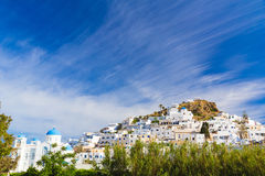 Chora town, Ios island, Cyclades, Aegean, Greece Stock Images