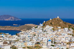 Chora town, Ios island, Cyclades, Aegean, Greece Royalty Free Stock Photo