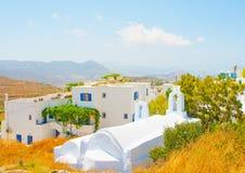 Chora van Amorgos Stock Afbeeldingen