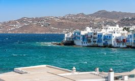 Chora village  Little Venice  - Mykonos Cyclades island - Aegean sea - Greece stock images
